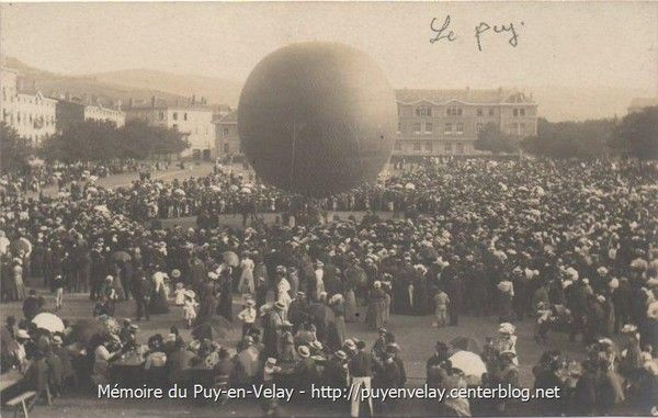 Lacher de Ballon en 1906